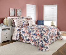 Seashore Quilted Pillow Sham - Coral