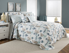 Seashore Quilted Bedspreads - Mist