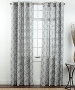 Theo Printed Grommet Top Curtain Panel - Platinum