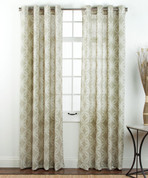 Theo Printed Grommet Top Curtain Panel - Sesame from Belle Maison
