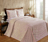 Florence Cotton Chenille Bedspread - Pink from Better Trends