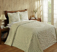 Florence Chenille Bedspread Queen - Sage from Better Trends