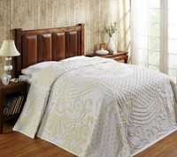 Florence Cotton Chenille Bedspread - White from Better Trends
