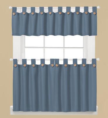 Westlake Kitchen Curtain - Blue from Saturday Knight Ltd