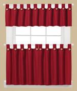 Westlake Kitchen Curtain - Red from Saturday Knight Ltd