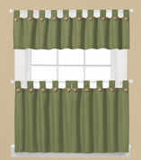 Westlake Kitchen Curtains in Sage green from Saturday Knight Ltd