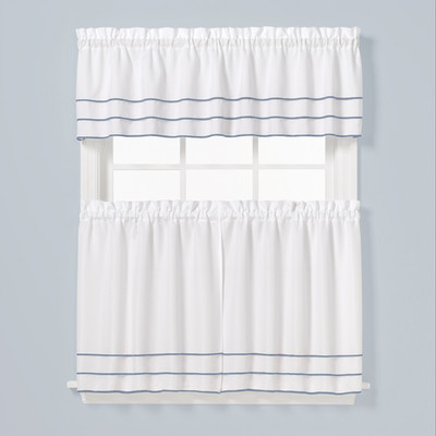 Anne Kitchen Curtain - Blue from Saturday Knight