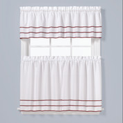 Anne Kitchen Curtain - Berry from Saturday Knight