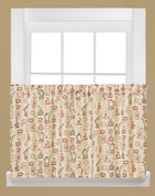 "Breaktime Coffee themed novelty kitchen curtain 36"" tier"