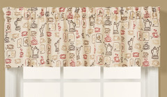 Breaktime Coffee themed novelty kitchen curtain valance