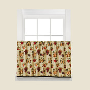 "Fruits Du Marche kitchen curtain 24"" tier from Saturday Knight"
