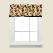 Fruits Du Marche kitchen curtain valance from Saturday Knight