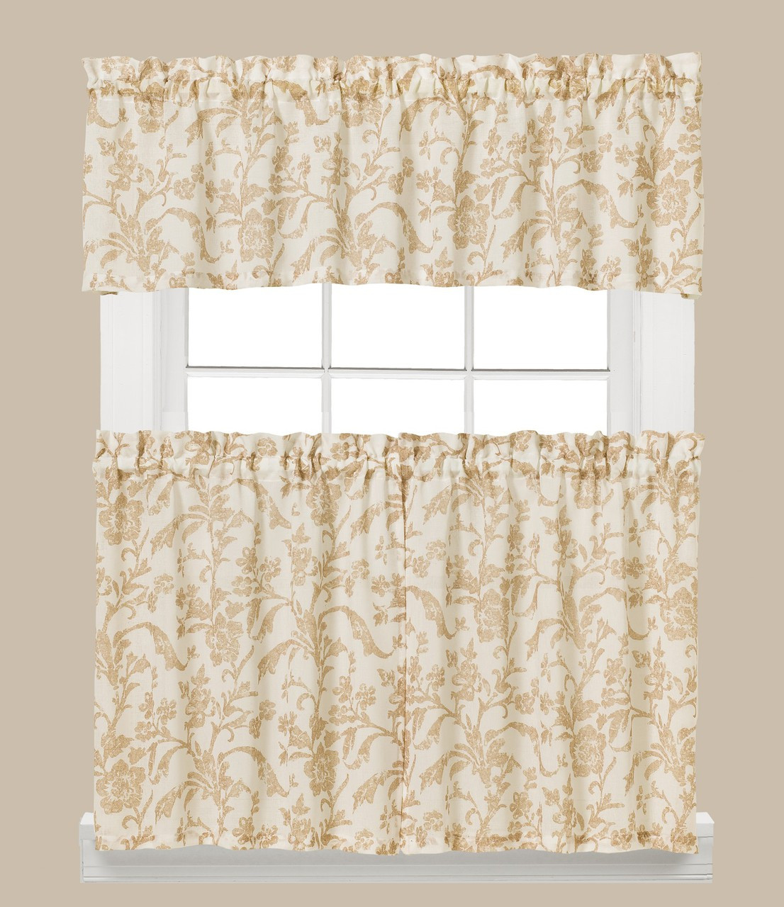 New Kitchen Curtains For Less: Melissa Floral Kitchen Curtain