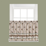 "Pinecone Plaid kitchen curtain 24"" tier from Saturday Knight Lts"