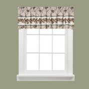 Pinecone Plaid kitchen curtain valance from Saturday Knight