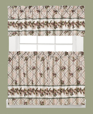 Pinecone Plaid Kitchen Curtain from Saturday Knight
