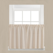 "Hopscotch kitchen curtain 24"" tier from Saturday Knight"