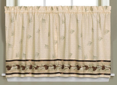 "Pinehaven kitchen curtain 36"" tier from Saturday Knight"