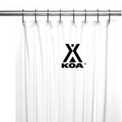 KOA Logo Shower Curtain - Black on White