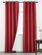 Sanctuary Grommet Top Curtain Panel - Crimson from Belle Maison