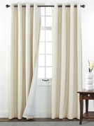 Sanctuary Grommet Top Curtain Panel - Vanilla from Belle Maison
