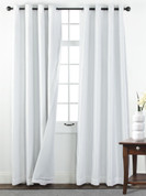 Sanctuary Grommet Top Curtain Panel - White from Belle Maison