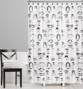 Barber Shop Moustaches Shower Curtain from Saturday Knight