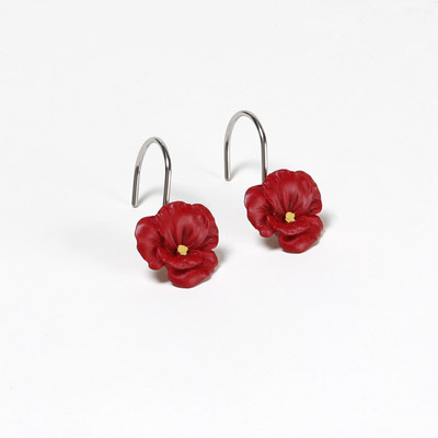 Poppy Field Shower Curtain Hooks from Saturday Knight (set of 12)