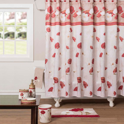Poppy Field Shower Curtain U0026 Bathroom Accessories From Saturday Knight