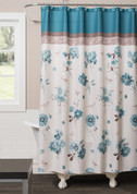 Blue Note Fabric Shower Curtain from Saturday Knight