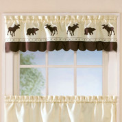 Forest kitchen curtain valance