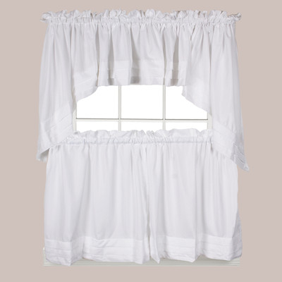 Holden White Kitchen Curtain from Saturday Knight