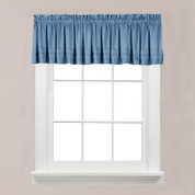 Holden kitchen valance - Smoke Blue from Saturday Knight