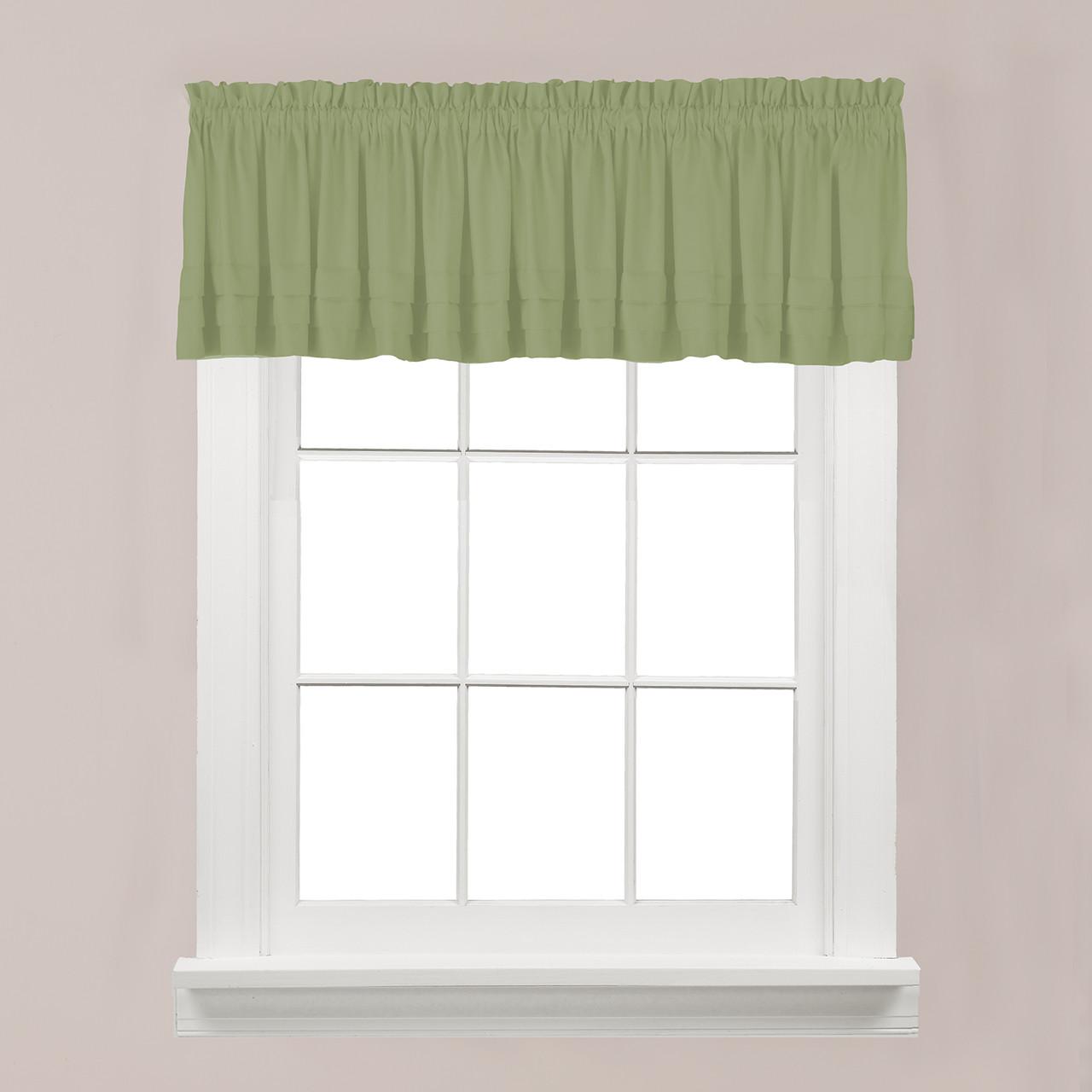 Sage Colored Curtains Kitchen: Linens4Less.com