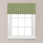 Holden kitchen valance - Sage Green from Saturday Knight