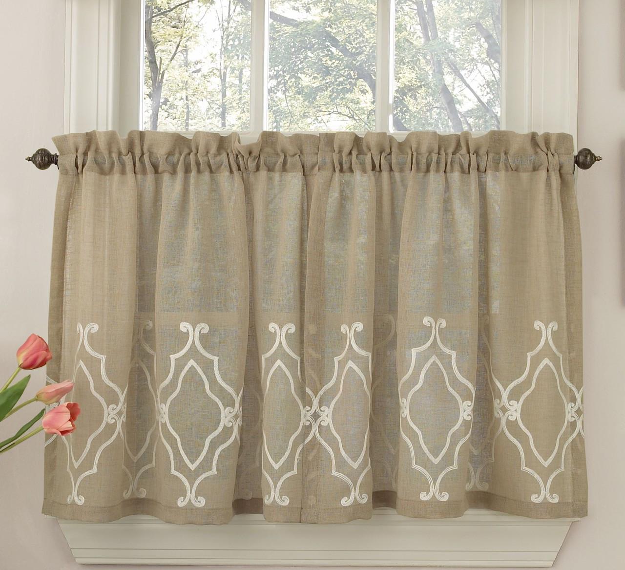 "Carlyle 24"" Kitchen Curtain Tier"