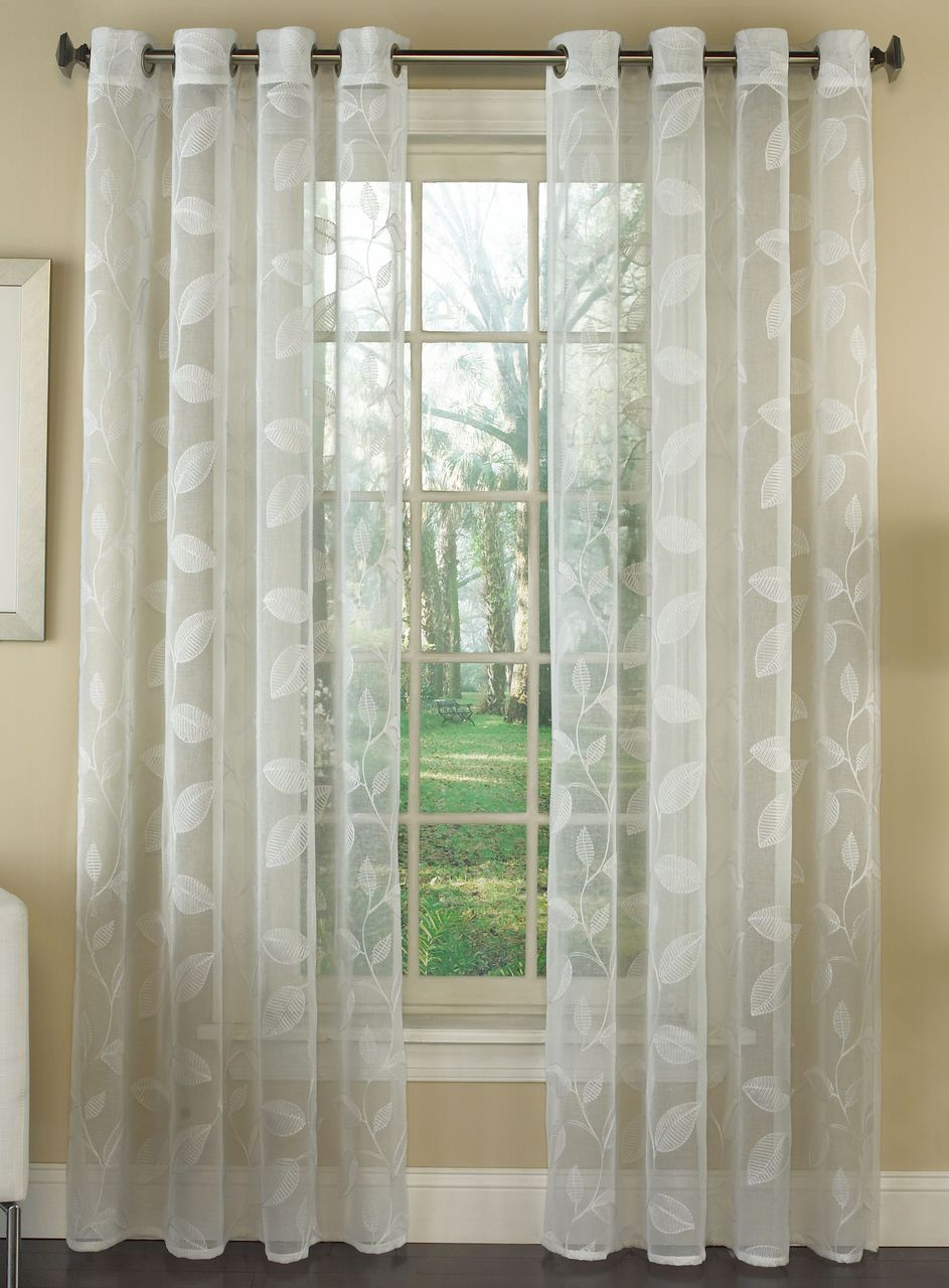 Avery Floral Lace Grommet Top Curtains