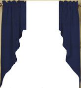 Ribcord kitchen curtain swag - Navy Blue