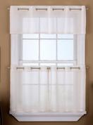Sidney Sheer Grommet Top Curtains