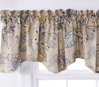 Celine Lined Rod Pocket Valance - Stone
