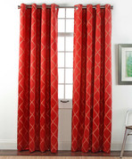 Envision Blackout Grommet Top Curtain Panel - Crimson