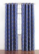 Envision Blackout Grommet Top Curtain Panel - Cobalt Blue