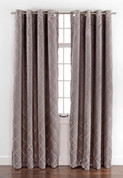 Envision Blackout Grommet Top Curtain Panel - Chrome