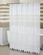 Valerie Sheer Macrame Shower Curtain - White