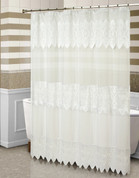 Valerie Sheer Macrame Shower Curtain - Natural