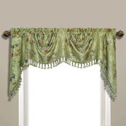 Jewel Embroidered Austrian Valance - Green
