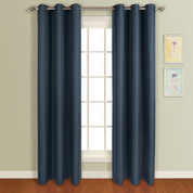 Mansfield Grommet Top Curtain Panel - Navy