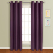 Mansfield Grommet Top Curtain Panel - Plum