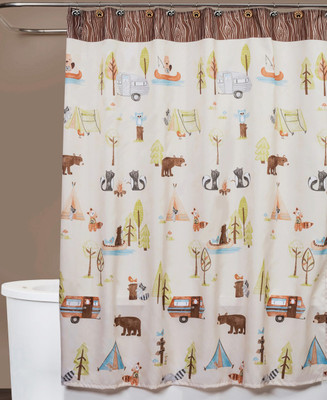 Camping Critters Shower Curtain from Saturday Knight