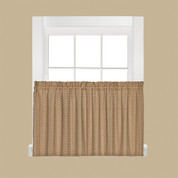 "Hopscotch kitchen curtain 24"" tier - Tan"